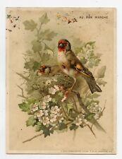 GRANDE CHROMO. Au Bon Marché.  Joli CHARDONNERET . GOLDFINCH . Bird. Oiseau