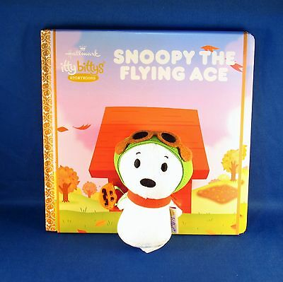 Hallmark - Itty Bittys - Peanuts Gang - Snoopy The Flying Ace Book & Small Plush