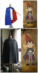 Details about  /Over the Garden Wall Wirt Cosplay Costume Cloak with Hat Outfit Any Size