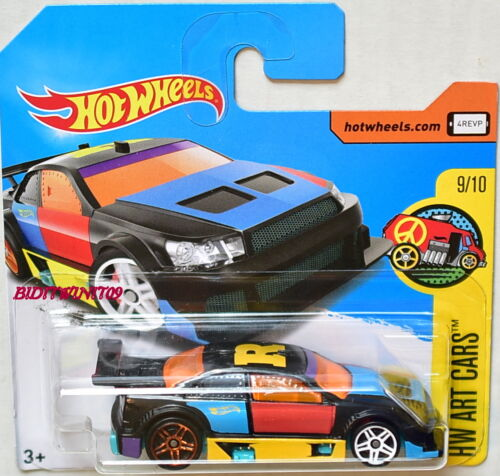 HOT WHEELS 2017 HW ART CARS AMAZOOM #9/10 BLACK SHORT CARD