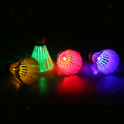 8 Pieces Colorful LED Lighting Badminton Shuttlecock Dark Night Glow Birdies