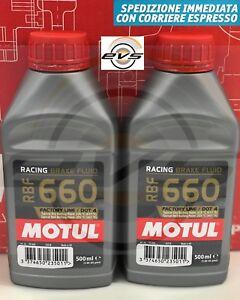 Olio Fluido Freni Motul RBF 660 FL Factory Line DOT 4 Racing Auto e Moto 2x500ml