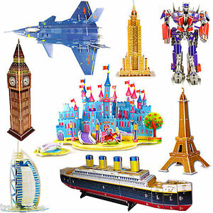 3d-Puzzles-Rompecabezas-De-Eiffel-Torre-De-Pisa-Puente-Transformers-Opera-Casa-Blanca