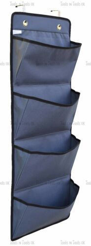 4 Tier Over The Door Hanging /& Hook Organizer Storage Pocket Clothes Wardrobe