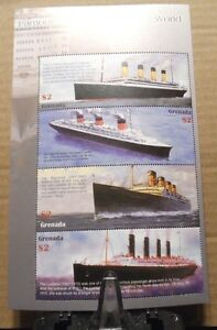 2 MINT BLOCK STAMPS OF SHIPS (TOTAL 14) FROM BURKINA FASO/GRENADA !!!!!