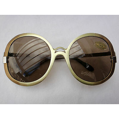 VINTAGE NEOSTYLE TWO TONES FRAME BROWN LENS 70'S SUNGLASSES MADE IN GERMANY