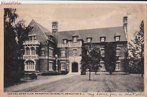 Postcard Cap And Gown Club Princeton University Princeton Nj Ebay