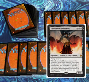 mtg-RED-BLACK-DECK-Magic-the-Gathering-rares-60-cards-DOM-Modern-josu-vess
