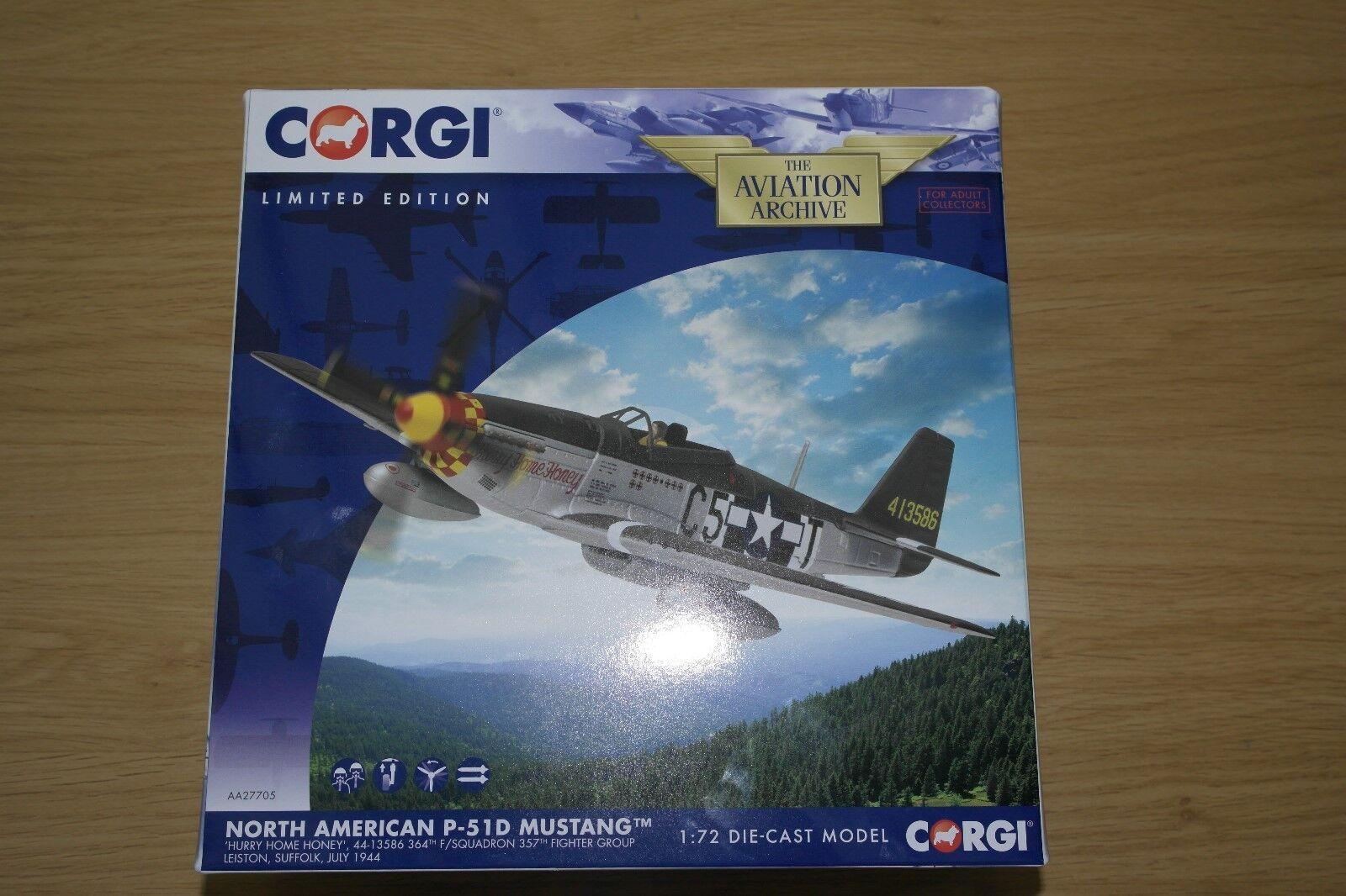Corgi aviation 1 72 nordamerikanischen p-51d mustang nach hause, schatz 364f 357f   g   s