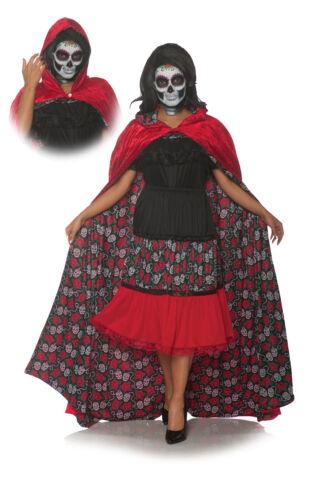 Dia De Los Muertos Womens Adult Festive Costume Skull Cape