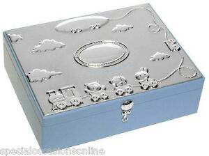 Large Silver Plated Baby Keepsake Memory Box - New Born ...