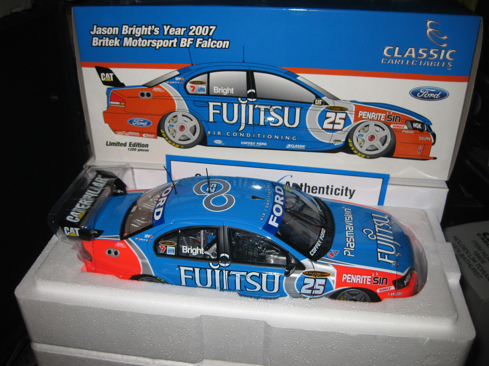 1/18 CLASSIC 2018 FUJITSU RACING  25 JASON BRIGHT BRITEK  FORD BF FALCON 18301