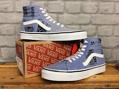 Vans Damen sk8 hi blau Logo Mix Wildleder Sneaker verschiedene Größen | eBay