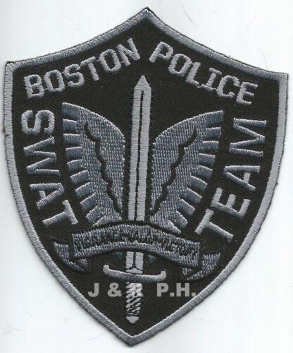 "fire shoulder police patch Boston  S.W.A.T. 3.5/"" x 4.25/"" Massachusetts"