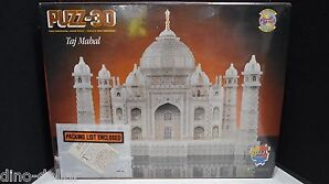 Taj Mahal 1077 Piece 3D Puzzle by WREBBIT, Year 1995 - 00772666008125