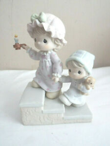 """PRECIOUS MOMENTS """"AND TO ALL A GOOD NIGHT"""" FIGURINE-NO BOX"""