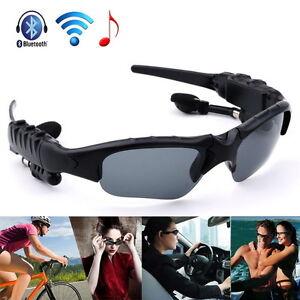 77a4fd0d0f9 Image is loading Bluetooth-Polarized-Sunglasses-Eyewear-MP3-Headphone- Headset-For-