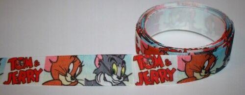 Tom /& Jerry Schleifband stoffband 22 mm ripsborte Ruban Satin zierborte