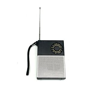 Vintage-Sanyo-Solid-State-FM-AM-Portable-Radio-Receiver-RP5115-Battery-READ