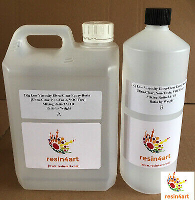 ARTIST UV RESISTANT RESIN4ART 2:1 ULTRA-CLEAR LOW VISCOSITY EPOXY RESIN