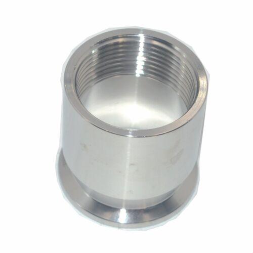 """Casquillo roscado hembra sanitario 1-1//4/"""" DN32 Tubo Accesorios TRI CLAMP tipo SS304"""