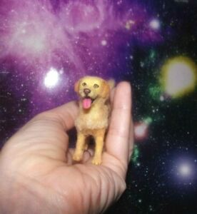 OOAK-Golden-Retriever-Labrador-Realistic-Dollhouse-1-12-Handmade-Miniature-IGMA