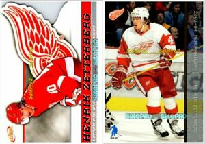 2x-BAP-PACIFIC-McDONALD-2003-HENRIK-ZETTERBERG-NHL-DETROIT-RED-WINGS-20-30-LOT