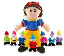 Tellatale Snow White Hand Puppet & Seven Dwarves Finger Puppets By Fiesta Crafts
