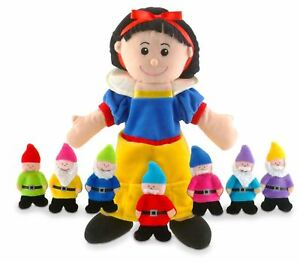 Tellatale-Snow-White-Hand-Puppet-amp-Seven-Dwarves-Finger-Puppets-By-Fiesta-Crafts