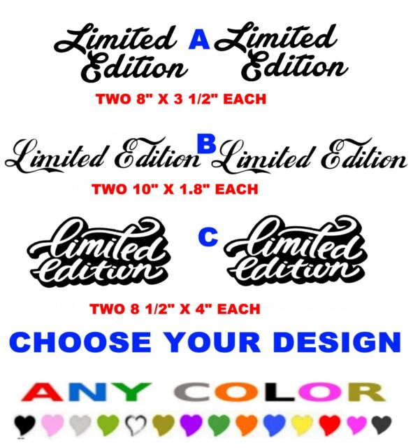 Large Custom Car Window Bumper Stickers Decals Ref 1 Limited