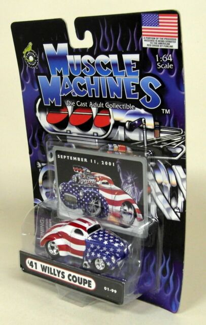 Muscle Machines 1/64 Scale - '41 Willys Coupe Sept 11 2001 Diecast Model car