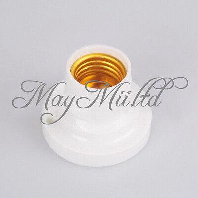 Useful New E27 Round Plastic Base Screw Light Bulb Lamp Socket Holder White JM