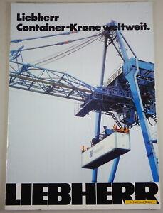 """Prospectus/Brochure Liebherr Toys Container-Krane Worldwide """" Stand 10/1979"""