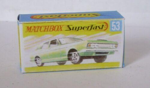 Repro box Matchbox Superfast nº 53 ford Zodiac MK IV