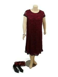TAKING-SHAPE-Burgundy-Midi-A-Line-Dress-Party-Wedding-Formal-Plus-Size-22