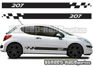 Peugeot 207 012 Side Racing Stripes Graphics Stickers Decals Vinyl Ebay