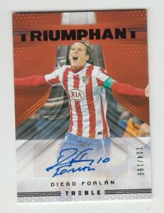 2018-19 Panini Treble Soccer Autograph Auto Card :Diego Forlan #114/199