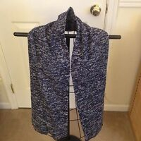 Old Navy Winter Acrylic Scarf Blue And White 62 X 10 Without Tag
