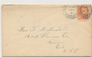 CANADA VICTORIA SMALL QUEEN ISSUE #41 ON 1891 COVER TO USA !! B65