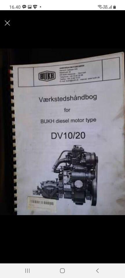 BUKH diesel motor type DV10/2, Værkstedshåndbog for BUKH