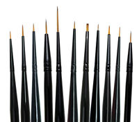 Majestic Royal and Langnickel Short Handle Paint Brush Set, Detail, 11-Piece Craft Supplies