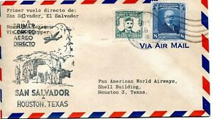 1946-FIRST-AIR-MAIL-FLIGHT-FROM-SAN-SALVADOR-EL-SAL-TO-HOUSTON-ON-OCT-16-1946