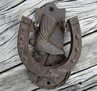 Cast Iron Horse Shoe Door Knock Old West Cowboy Boot Sheriff Star Metal Hinge