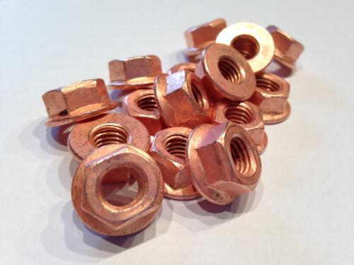 8 Stück extra stark verkupfert Kupfermutter M8 SW13 Aufdrehmoment reduziert