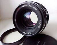 Very Rare! MC Zenitar-ME-1 1.7/50 Russian lens M42 SLR Square aperture! #850943