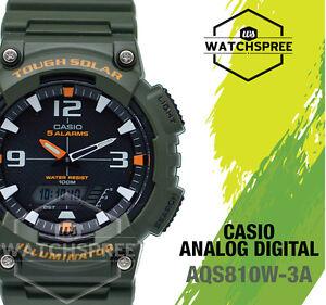 Resistente Casio Aqs810w Y Ver Solar Detalles Aq Libre Original Analógico Digital S810w Rápido 3a Au De Título Reloj rCodexBW