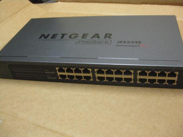 NETGEAR JFS524E ProSafe 24-Port 10/100 Mbps Ethernet Unmanaged Plus Switch