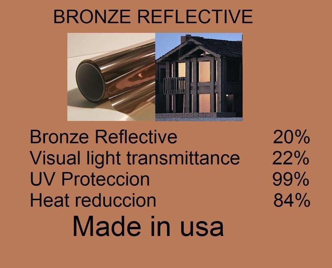Película De Bronce Solar Ventana Arquitectónicos Casa tinte residencial 20% 30  X 20 pies