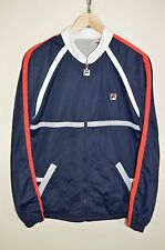 vtg 80s FILA BJ BORG OLDSCHOOL CASUALS TRACK JACKET TRACKSUIT TOP size D48 SMALL