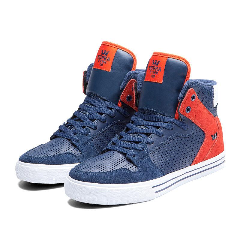 Supra Herren Vaider Schuhe Marineblau Orange S28130 Sz 9 12